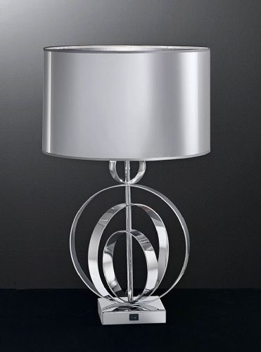 Franklite TL969 Chrome Table Lamp (Class 2 Double Insulated)
